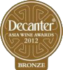 medaille bronze decanter 2012