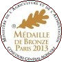 medaille bronze paris 2013